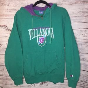 Villanova Hoodie thick quarter zip embroidered